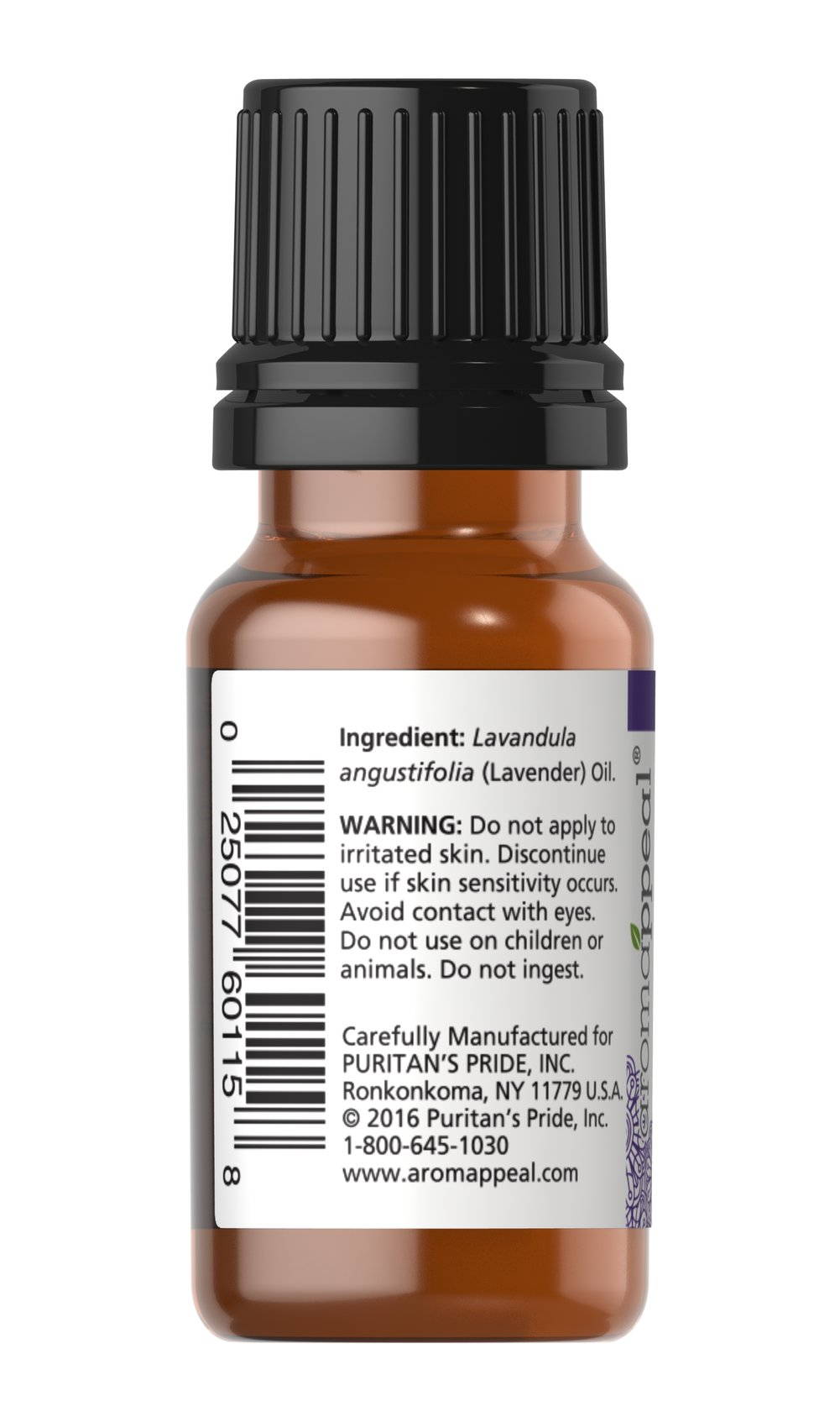 Lavender 100% Pure Essential Oil Thumbnail Alternate Bottle View