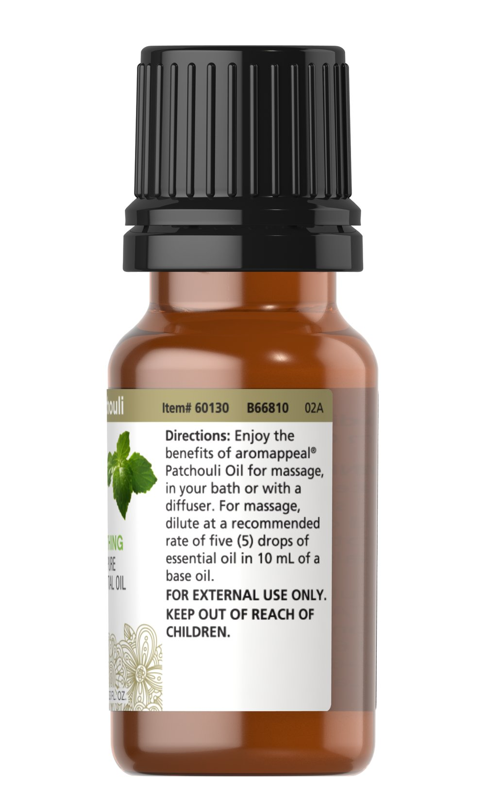 Patchouli 100% Pure Essential Oil Thumbnail Alternate Bottle View