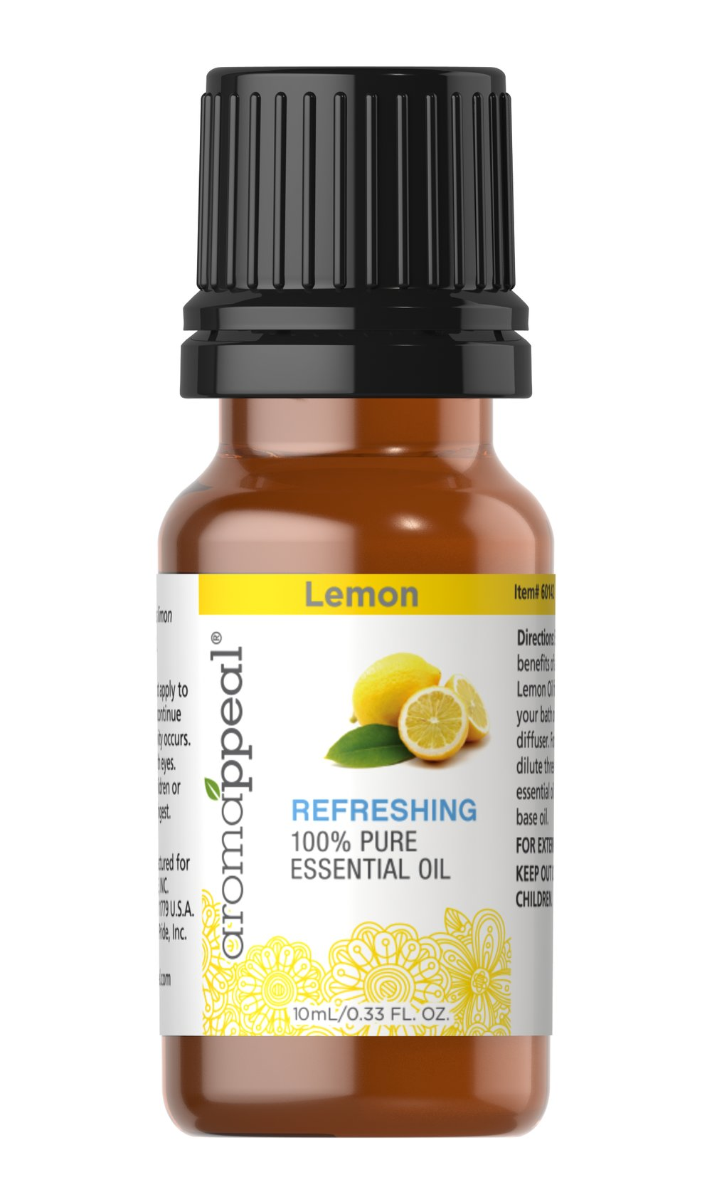 Lemon 100% Pure Essential Oil Thumbnail Alternate Bottle View