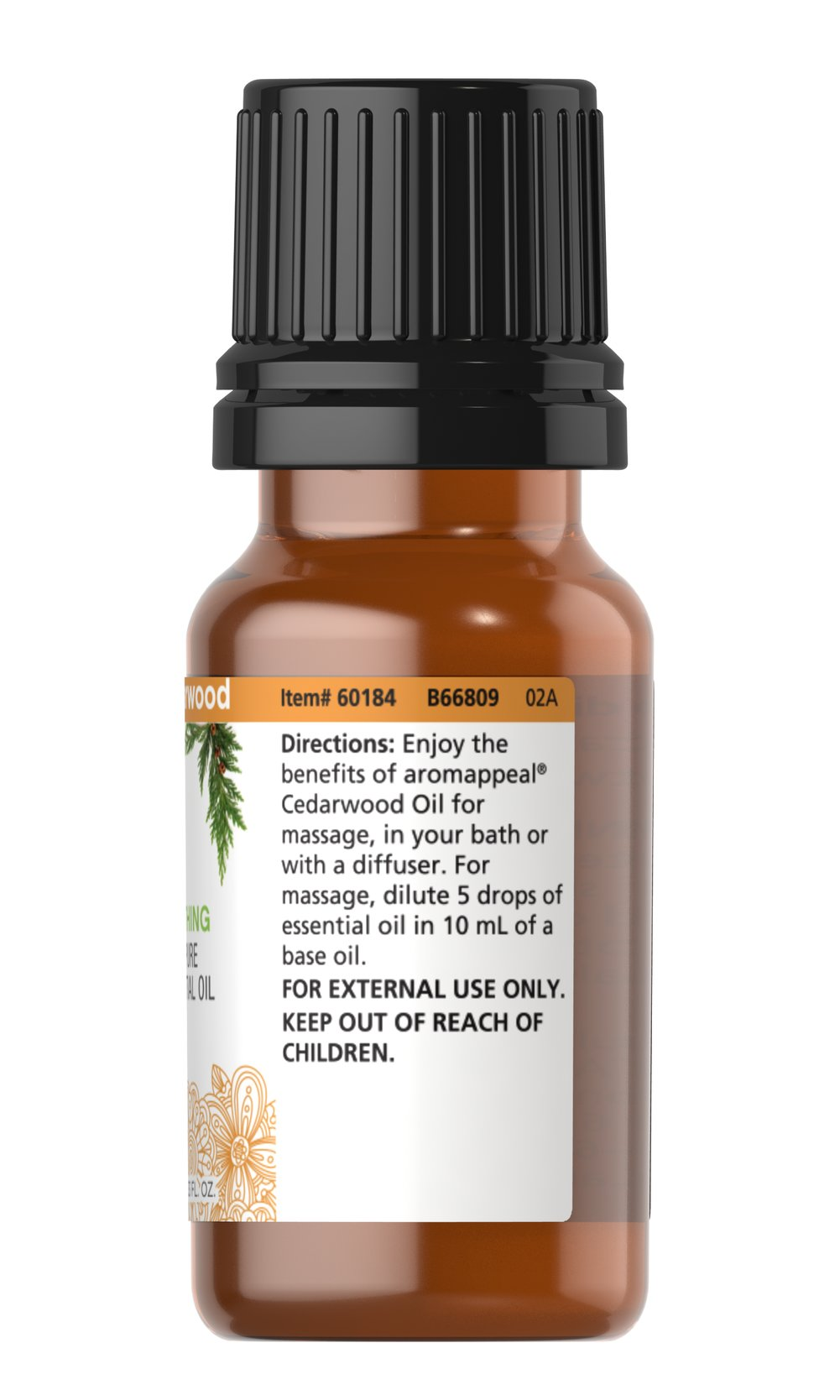 Cedarwood 100% Pure Essential Oil Thumbnail Alternate Bottle View