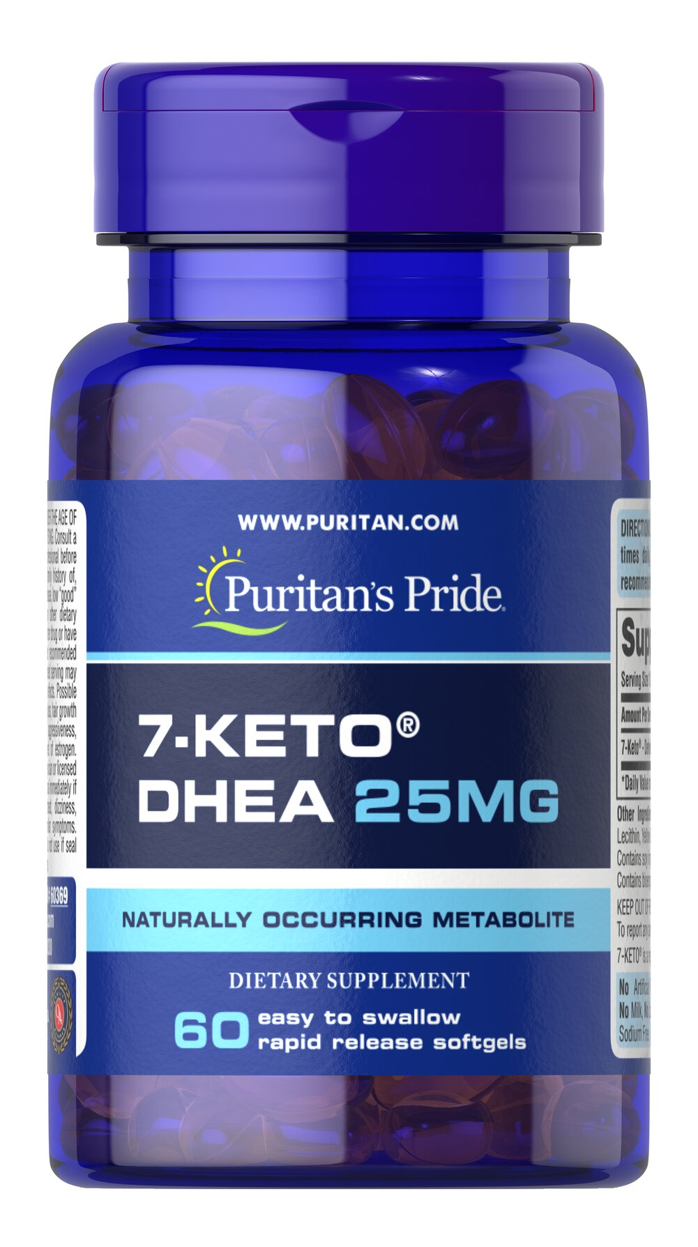 7-Keto™ DHEA 25 mg Thumbnail Alternate Bottle View