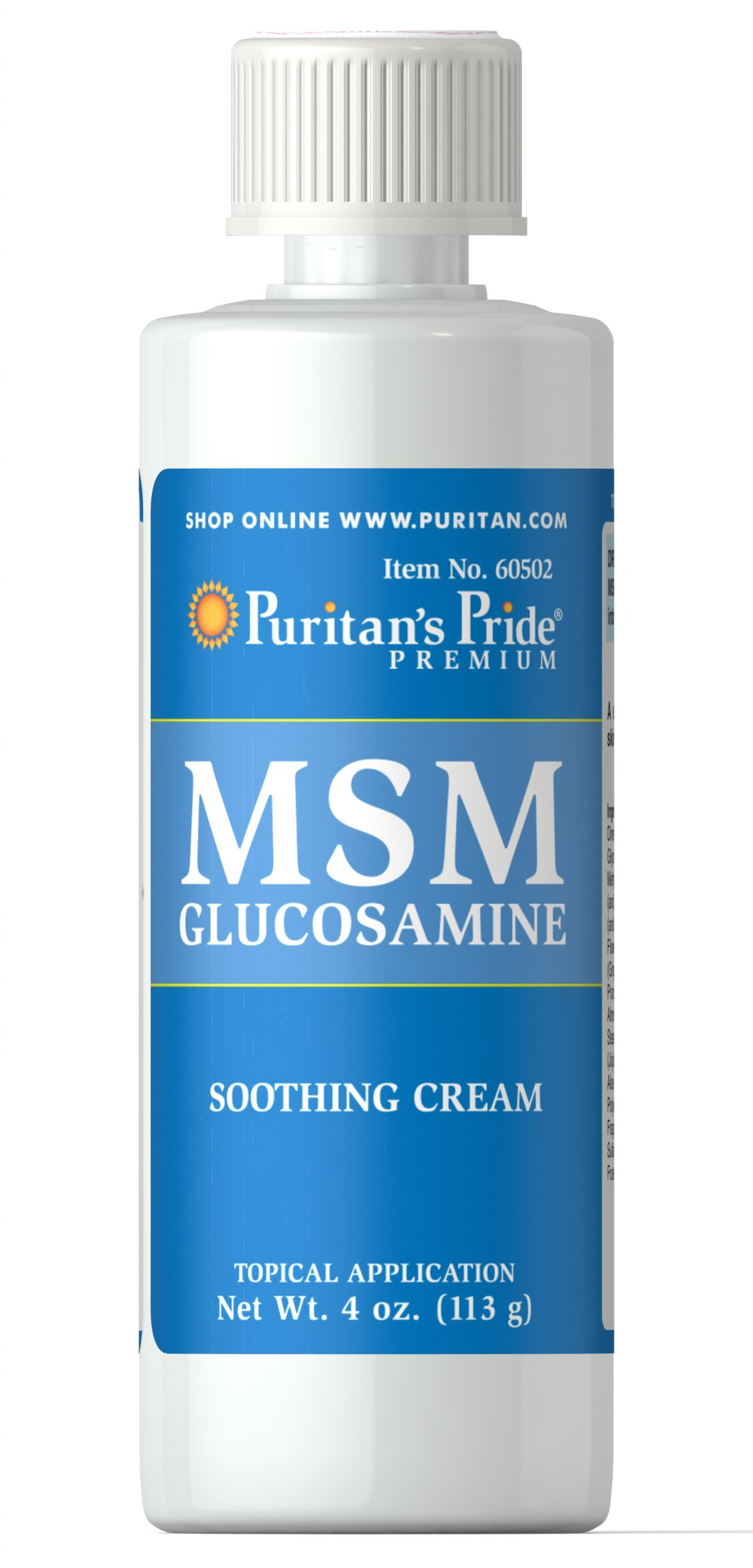 MSM Glucosamine Cream Thumbnail Alternate Bottle View