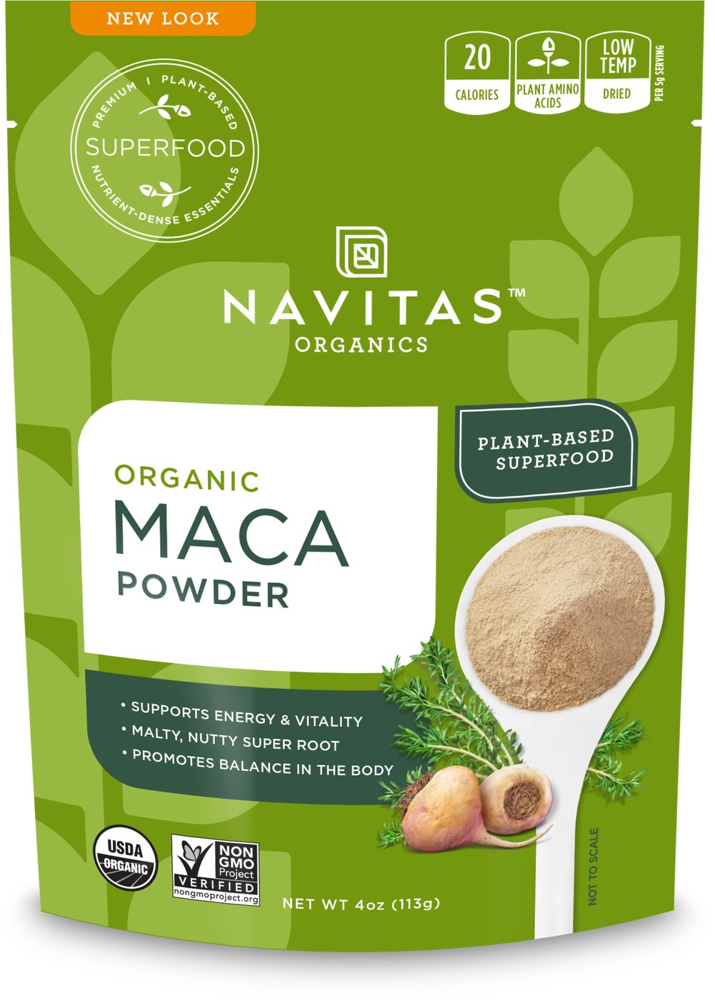 Organic Raw Maca Powder Thumbnail Alternate Bottle View