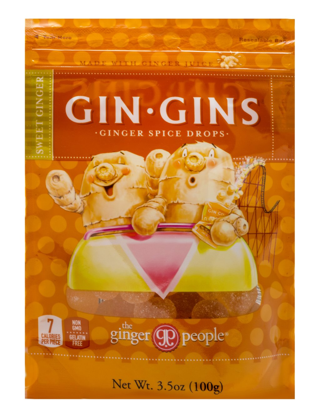 Gin Gins Ginger Spice Drops Thumbnail Alternate Bottle View