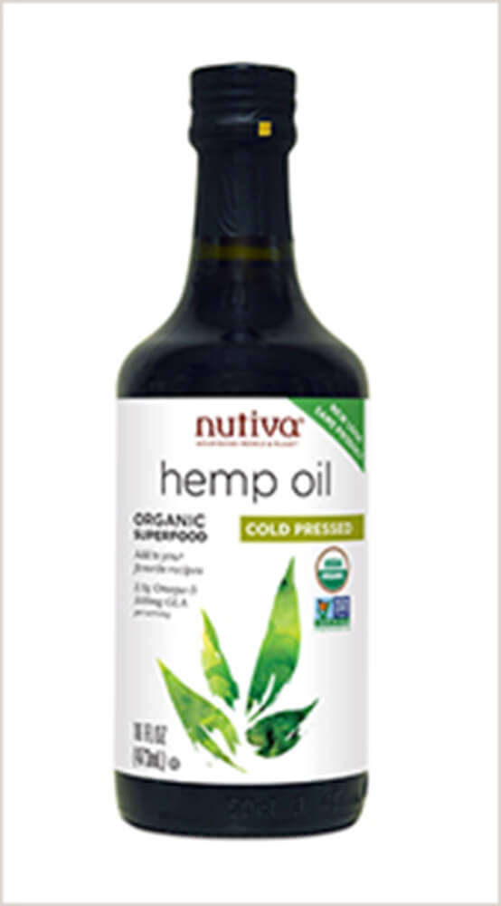 Organic Cold Pressed Hemp Seed Oil Thumbnail Alternate Bottle View