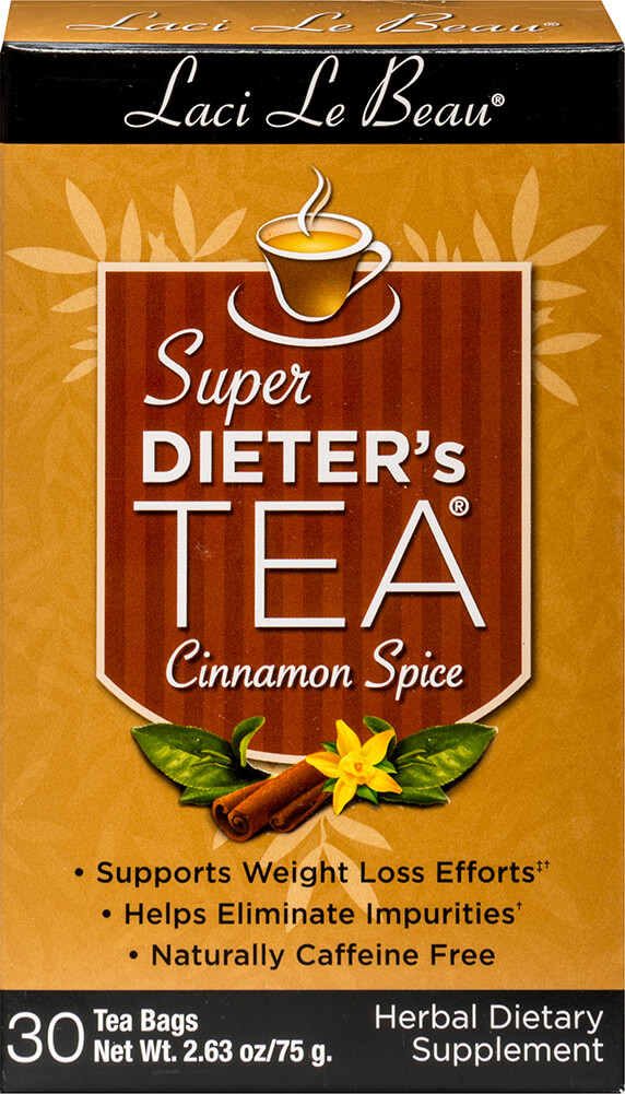 Super Dieter's Cinnamon Spice Tea Thumbnail Alternate Bottle View