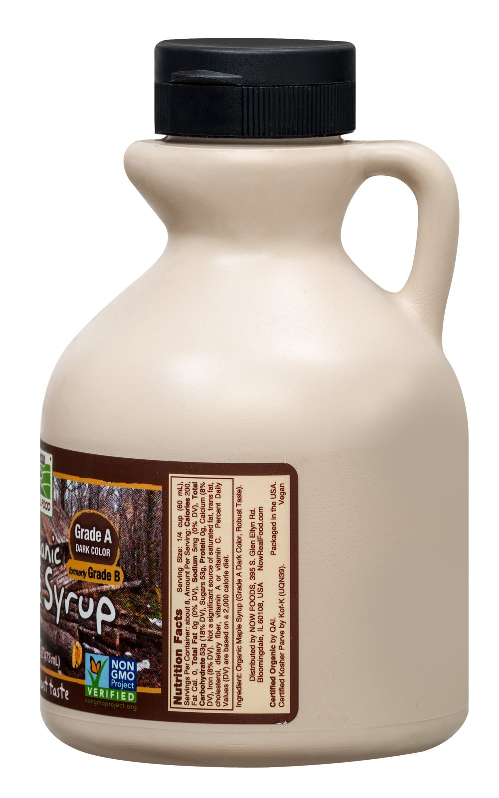 Organic 100% Pure Maple Syrup Thumbnail Alternate Bottle View