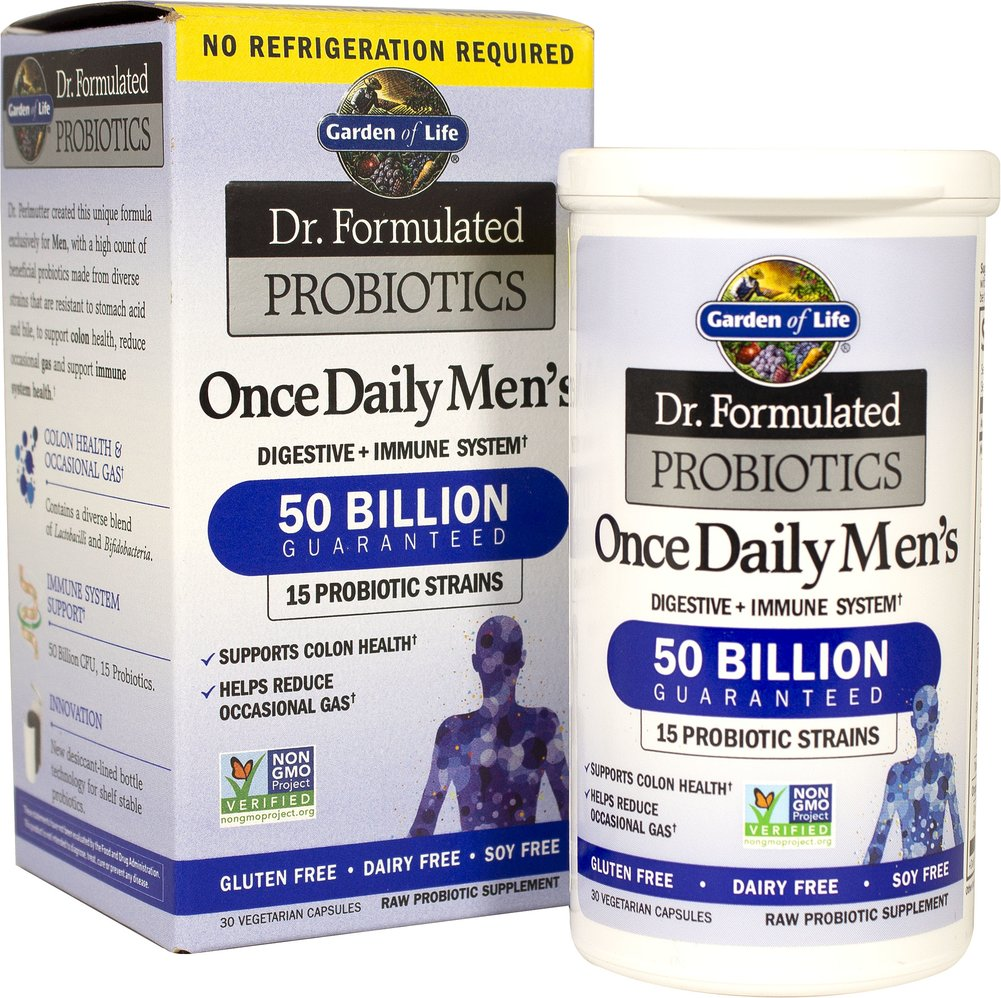Dr. Formulated Probiotics Once Daily Men's 50 billion Thumbnail Alternate Bottle View