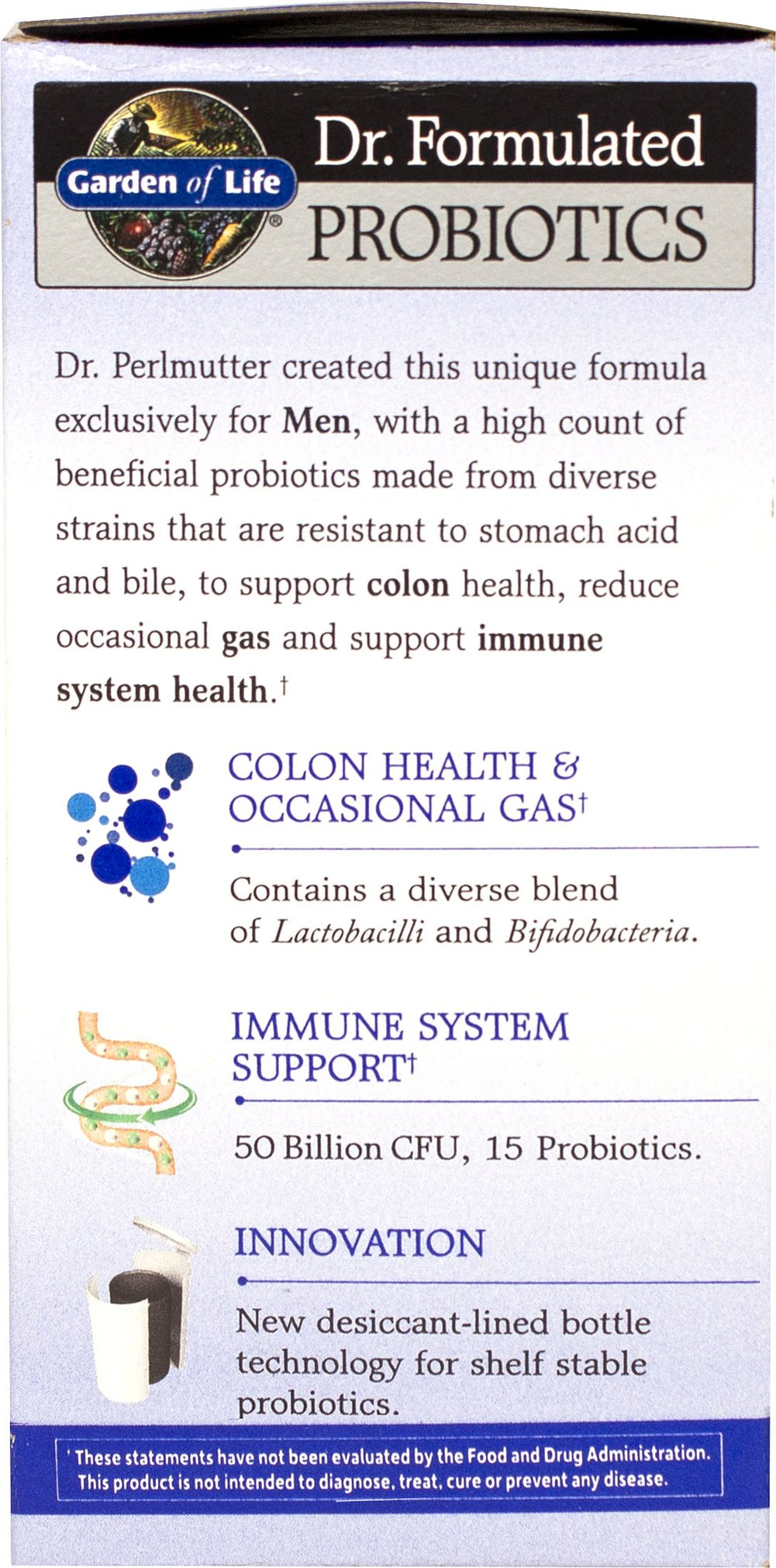 Dr. Formulated Probiotics Once Daily Men's 50 billion