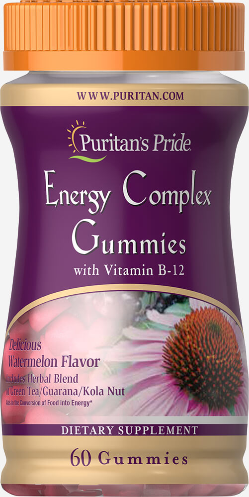 Energy Complex Gummy with Vitamin B12 Thumbnail Alternate Bottle View