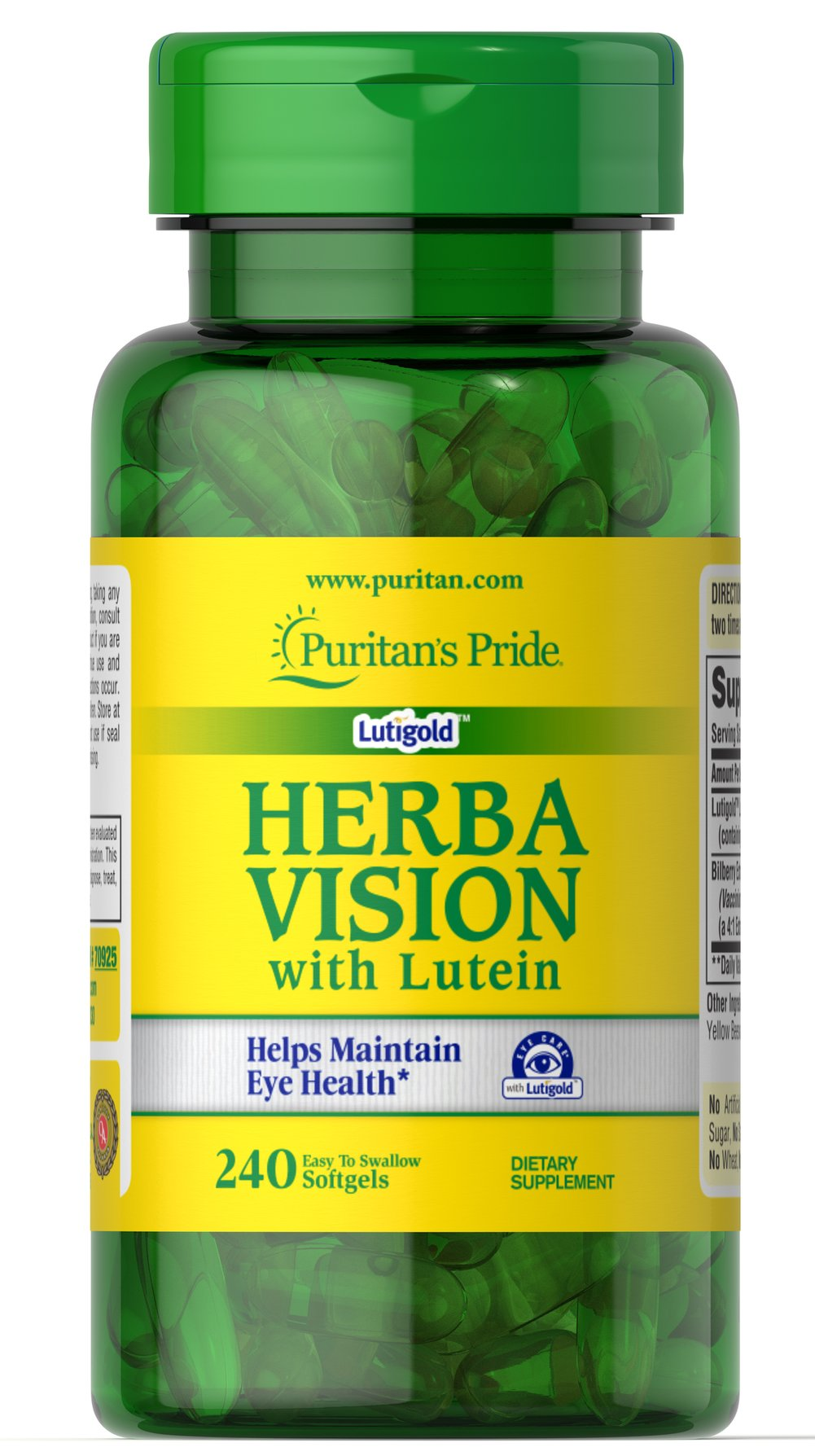 Herbavision with Lutein and Bilberry Thumbnail Alternate Bottle View