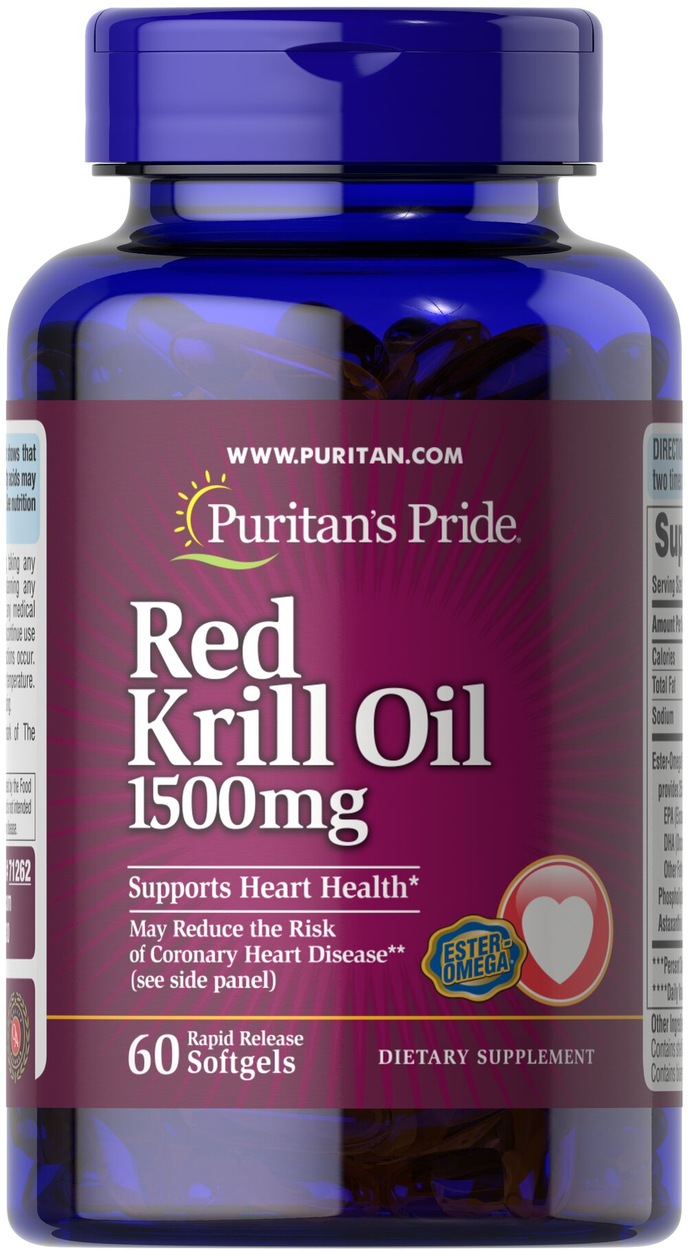 Maximum Strength Red Krill Oil 1500 mg (255 mg Active Omega-3)