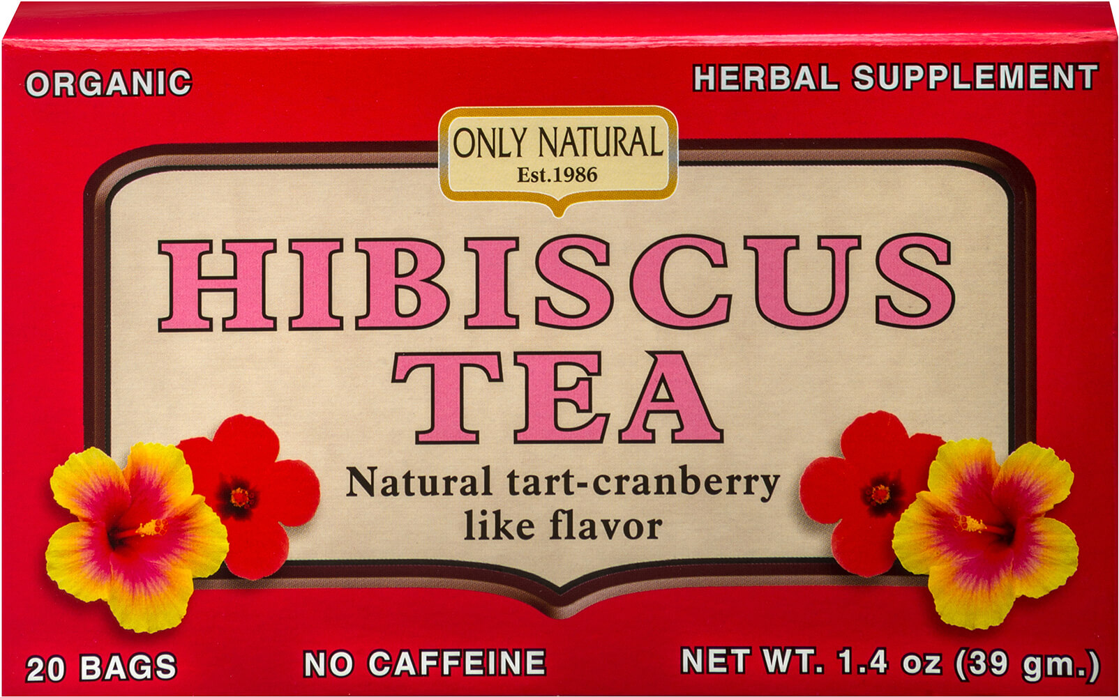 Hibiscus Tea Thumbnail Alternate Bottle View