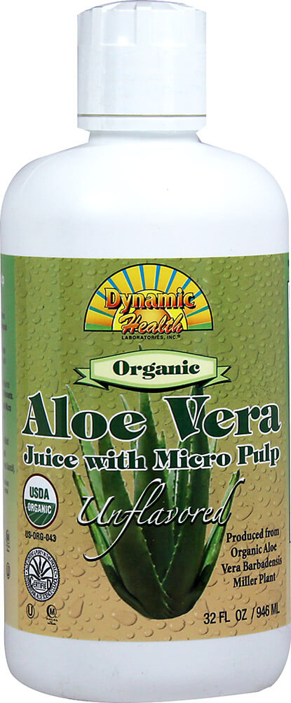 Organic Aloe Vera Juice W/ Micro Pulp Unflavored Thumbnail Alternate Bottle View