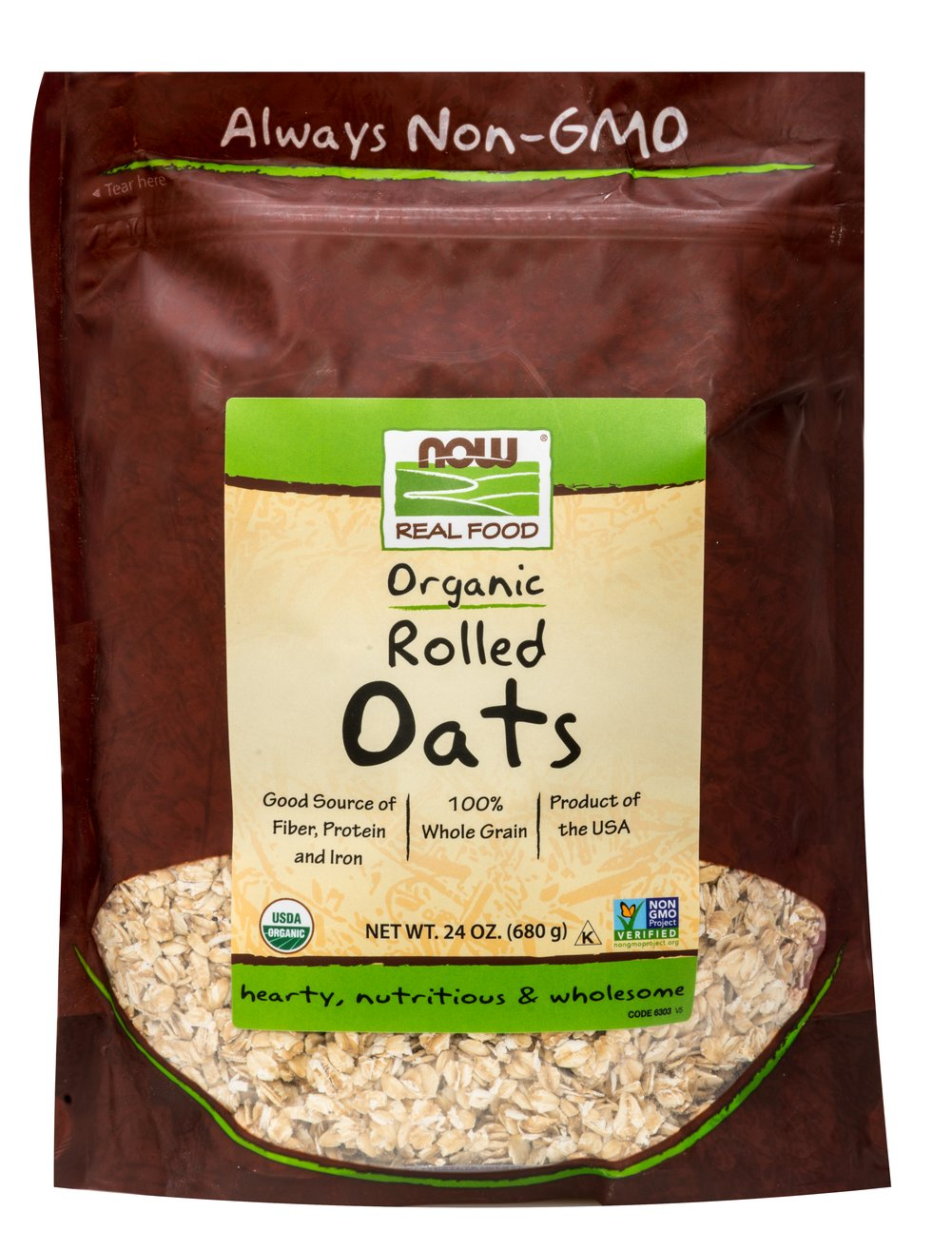 Organic Rolled Oats Thumbnail Alternate Bottle View
