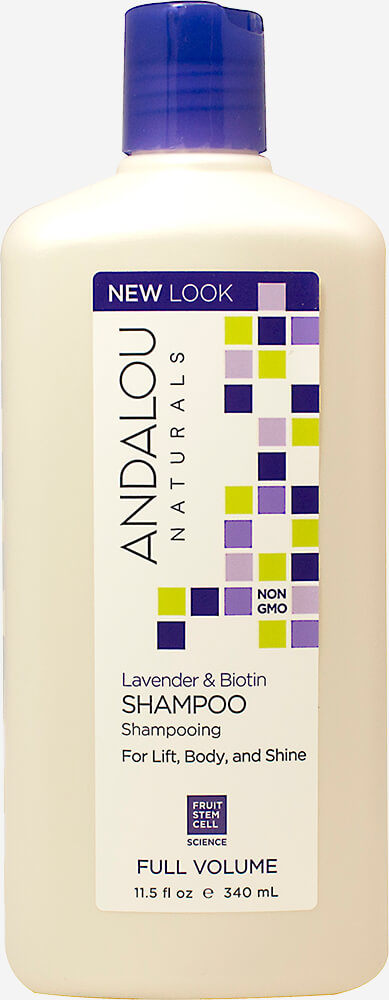 Andalou Lavender & Biotin Full Volume Shampoo Thumbnail Alternate Bottle View