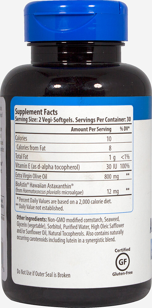 BioAstin® Supreme Astaxanthin 6 mg Thumbnail Alternate Bottle View