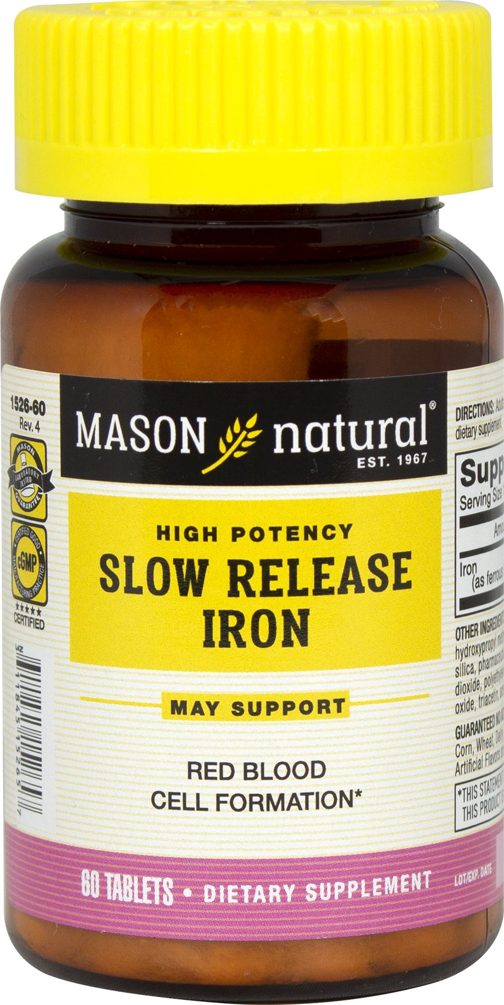 Iron 50 mg Slow Release Thumbnail Alternate Bottle View