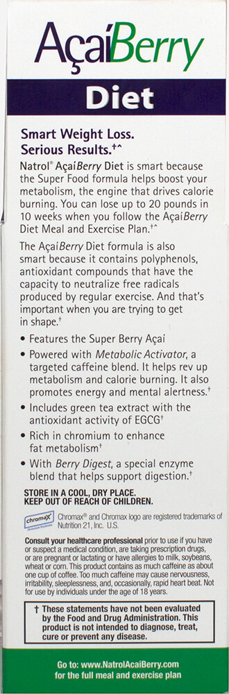 Acai Berry Diet Thumbnail Alternate Bottle View