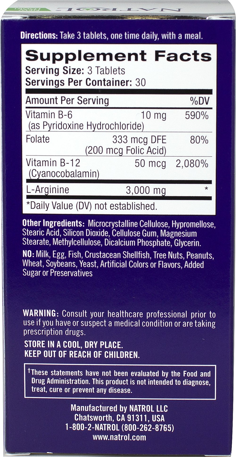 L Arginine Thumbnail Alternate Bottle View