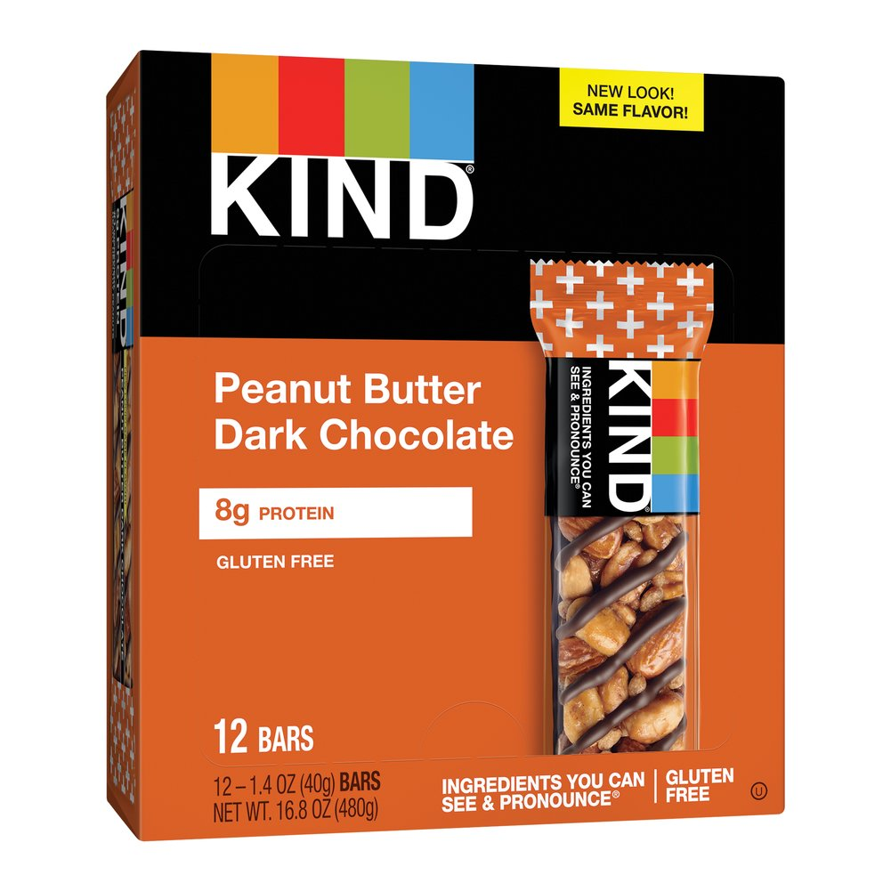 KIND Plus Peanut Butter Dark Chocolate Thumbnail Alternate Bottle View