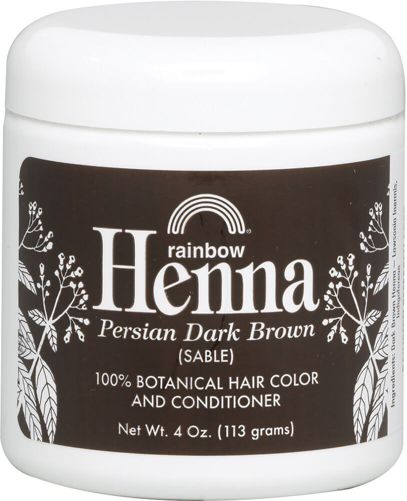 Henna Persian Dark Brown (Sable) Hair Color & Conditioner