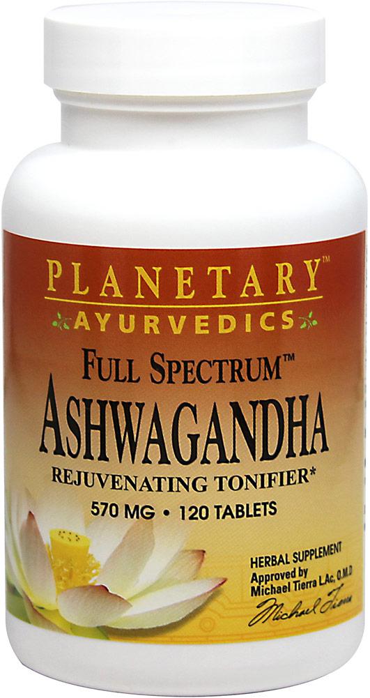 Planetary Herbals Full Spectrum? ; Ashwagandha 570 mg-120 Tablets