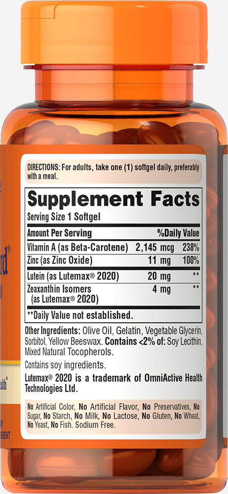 Lutein Blue Light Vision Guard with Lutemax® 2020