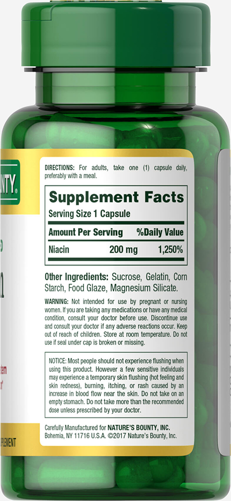 Nature's Bounty Time Released Niacin 200 mg