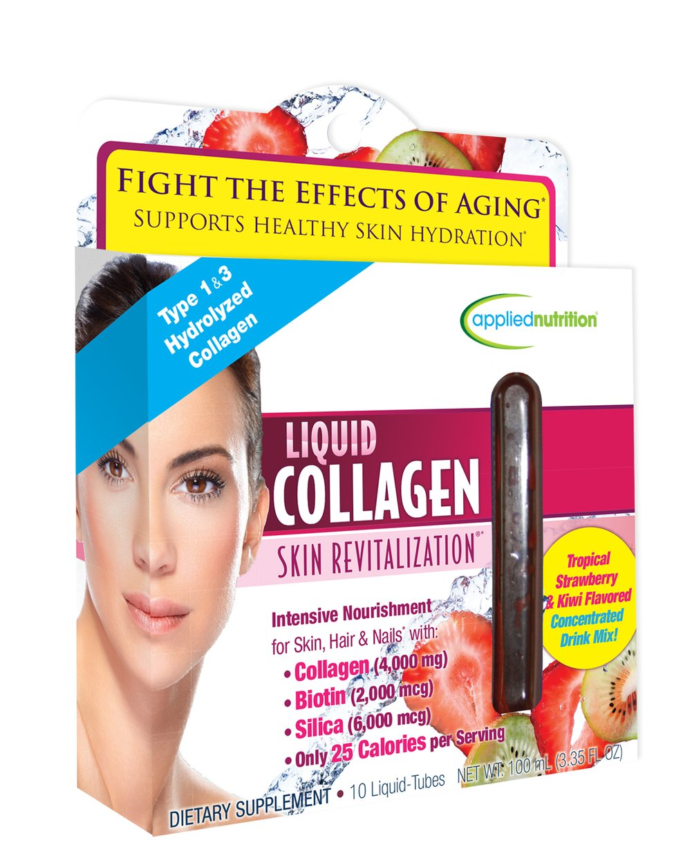 Applied Nutrition Liquid Collagen 4,000 mg Skin Revitalization™-10   Tubes