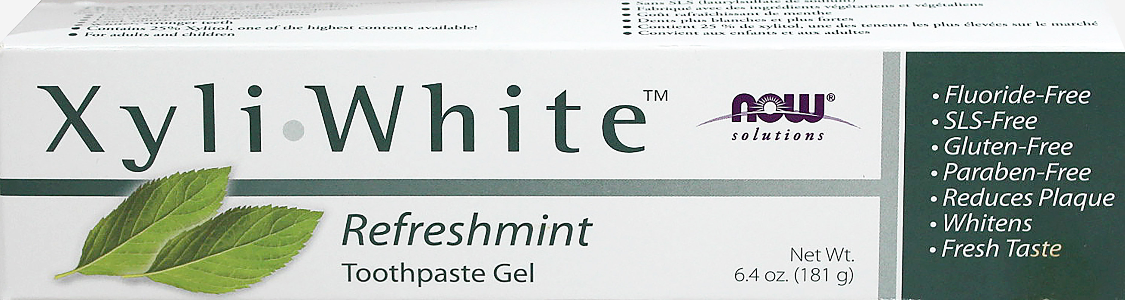 Xyliwhite Refreshmint Toothpaste Gel Fluoride-Free Thumbnail Alternate Bottle View