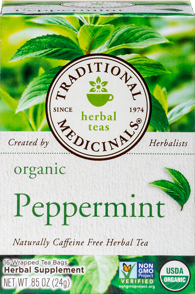Organic Peppermint Tea Thumbnail Alternate Bottle View