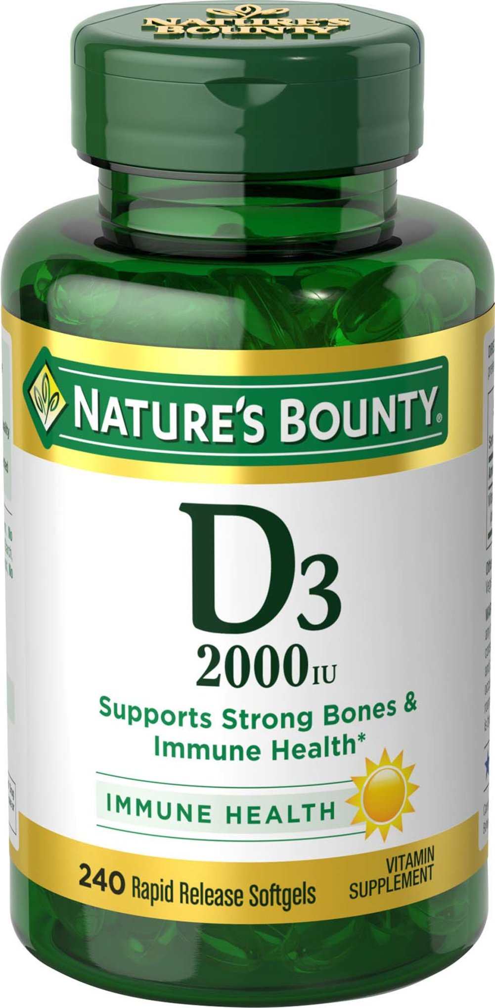 Nature's Bounty® Vitamin D 3 2000 IU