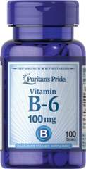 Vitamin B-6 (Pyridoxine Hydrochloride) 100 mg