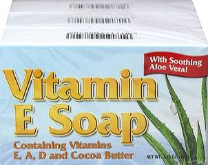 Natural Vitamin E Soap with Cocoa Butter