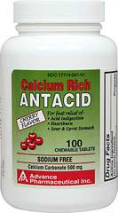 Chewable Antacid Calcium Carbonate 500 mg