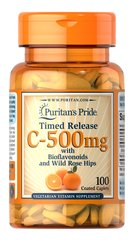 Vitamin C-500 mg with Rose Hips Time Release