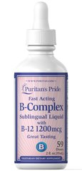 Vitamin B-Complex Sublingual Liquid with Vitamin B-12