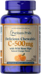 Chewable Vitamin C 500 mg with Rose Hips