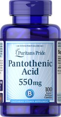 Pantothenic Acid 550 mg Rapid Release