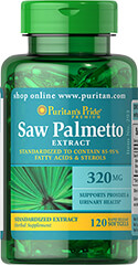 Saw Palmetto Standardized Extract 320 mg