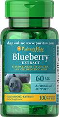 Blueberry Leaf Standardized Extract 60 mg