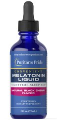 Sublingual Melatonin Natural Black Cherry Flavor 1 mg