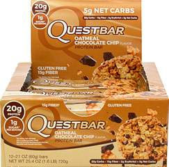 Quest Protein Bar Oatmeal Chocolate Chip