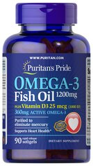 Omega 3 Fish Oil 1200 mg  plus Vitamin D3 1000 IU