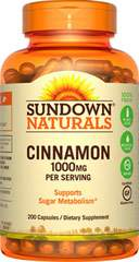 Sundown Naturals Cinnamon 1000 mg