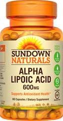 Sundown Naturals Alpha Lipoic Acid 600 MG