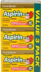 Chewable Low Dose Aspirin 81 mg Cherry Value Pack