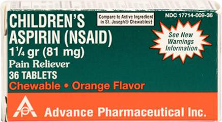 Childrens Chewable Aspirin 81 mg