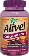 Alive!® Calcium + D³ Gummies